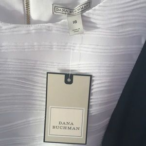 Dana Buchman Dresses - Black/white form-fitted cocktail dress